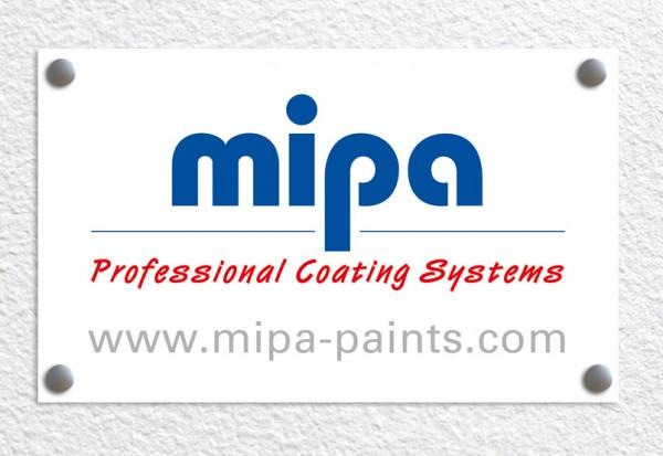 Mipa Logo Schild Alu-Dibond