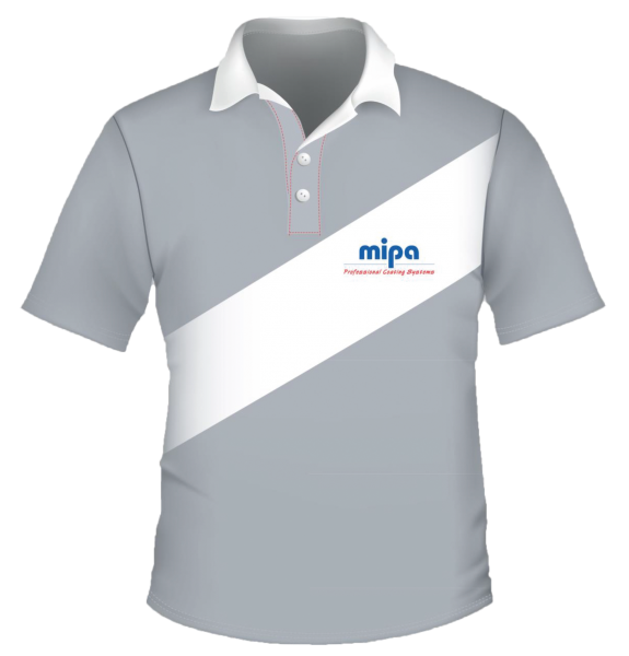 Mipa Polo-Shirt Greyline, bestickt