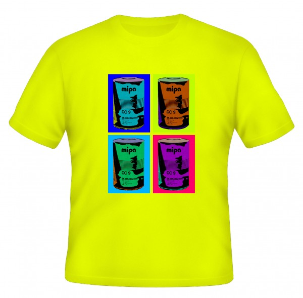 Mipa T-Shirt Pop Art , neongelb