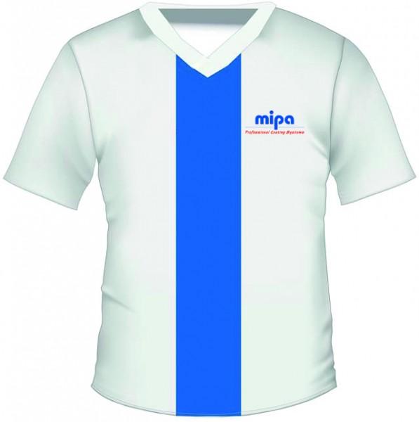 Mipa T-Shirt White/Blue, bedruckt